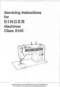 singer stylist models 514 514k 534 sewing machine service repair rh ebay com 15 91 Singer Instruction Manual singer stylist 514 user manual