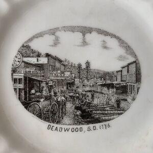 Vintage 1876 GOLD RUSH Collectible Souvenir China Plate DEADWOOD South Dakota