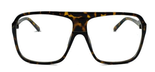 Messieurs Old School Lunettes de soleil modebrille en verre clair Flat Top Lunettes Années 80er
