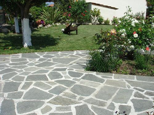 Polygonalplatten,Bodenplatten,Naturstein Schiefer grau Palettenpreis 15,95€//m²!!