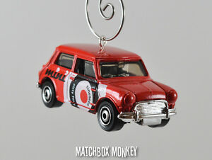 New Red Custom 1964 Austin Mini Cooper Christmas Ornament 164 Coop