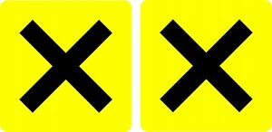 Novice-Driver-Cross-Stickers-MSA-Approved-pair
