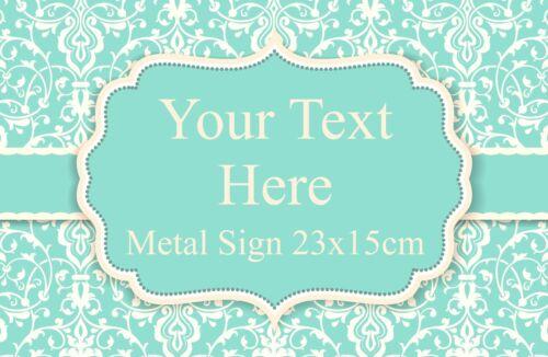 Personnalisé Texte Vintage en Métal Aluminium Signe Plaque pour Maison Porte 23x15cm