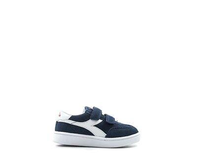 Amichevole Scarpe Diadora Bambini Sneakers Blu 173767-60033 Assicurare Anni Di Servizio Senza Problemi