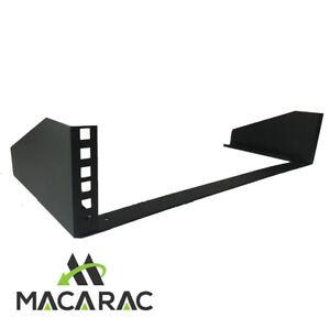 Details about 2U Steel Vertical Wall Mount / Under Desk Rack Bracket  (Black) 19