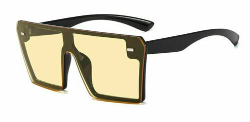 NEW Oversized Square Luxury Sunglasses Flat Top Vintage Women Fashion Shade 2019