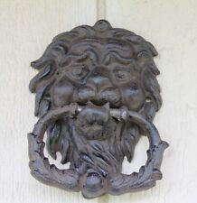 Door Knocker, Lion Head, Cast iron, wrought iron, gothic style gate hardware