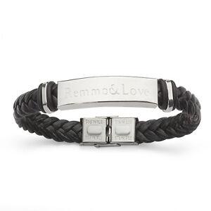 ID-Leder-Armband-MIT-GRAVUR-Geburtstag-BESTE-MAMA-FRAU-FREUNDIN-EHEFRAU-DER-WELT