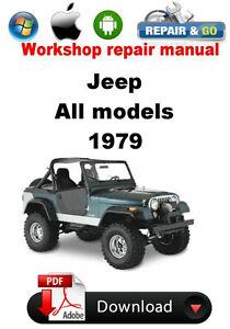 jeep all models from 1979 factory workshop repair manual ebay rh ebay com jeep factory shop manual jeep jk factory service manual pdf