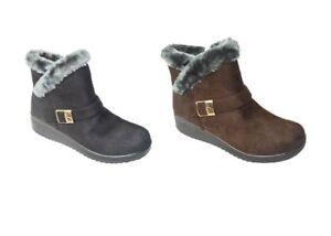7820aaee7c044d Women s Snow Sneakers Boots Winter Ankle Top Fur Faux Warm Snow ...