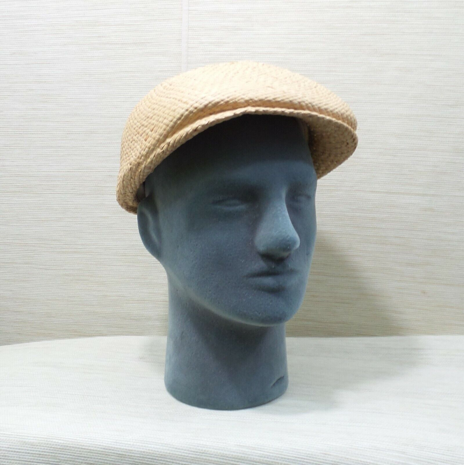Straw Cabbie Hat Cap Union Made Natural Newsboy M… - image 3