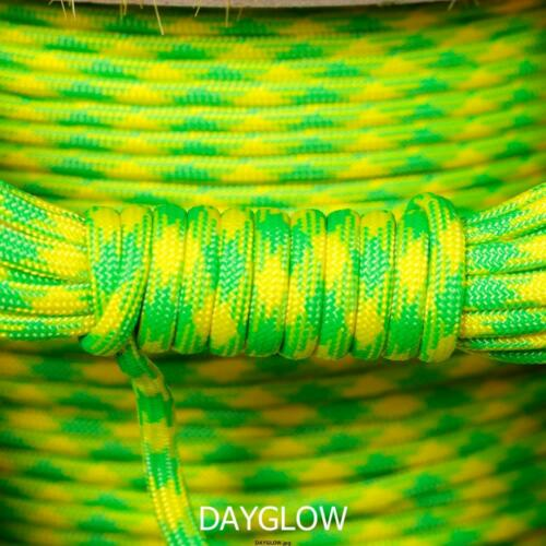 DAYGLOW 100FT PARACORD 550 TYPE 3-7 STRAND PARACHUTE CORD