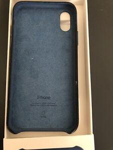 iphone xs leather case - cape cod blue