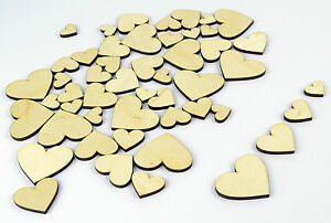 50x-Mixed-Wood-Craft-Shapes-Hearts-DIY-Project-Beads-Supplies
