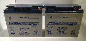 2-X-Power-Sonic-12V-21AH-Sealed-Lead-Acid-AGM-GEL-Battery-Mobility-Scooters