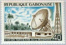 Gabon gabón 1973 510 318 Earth Station erdfunkstelle parabolica Space mnh