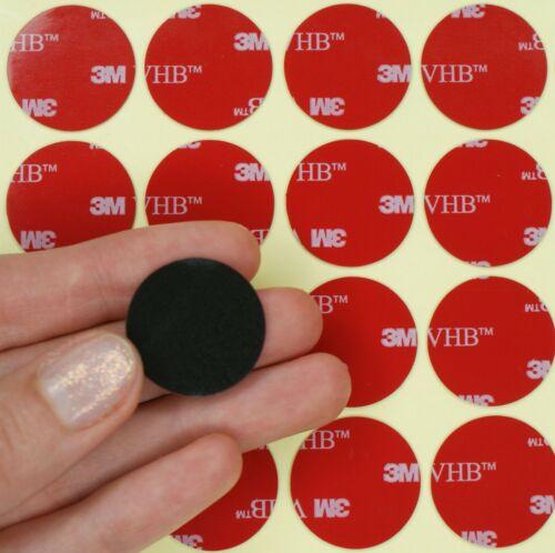 Grand S Noir 3 m VHB double face Pads Dots ~ 1 mm épais ~ Auto Adhésif