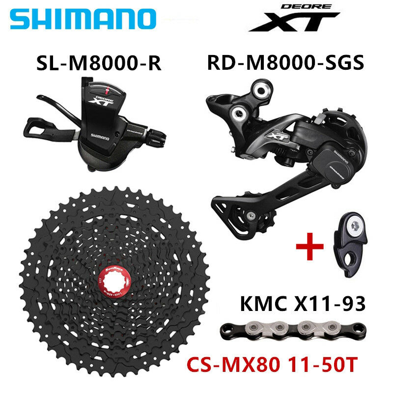SHIMANO DEORE XT  M8000 Groupset 1x11-Speed 46T 50T CSMX80 50T CASSETTE & X11.93  customers first
