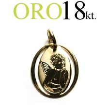 medaglia ciondolo ANGELO oro 18kt. 750/1000 regalo comunione cresima battesimo