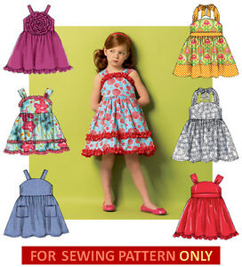 a525e5b4cb3 Image is loading SEWING-PATTERN-MAKE-DRESS-SUNDRESS-SIZES-TODDLER-2-