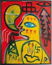"""Hartmut RITZERFELD (Beuys-Meisterschüler, *1950): """"Paris"""" Gemälde, 100 x 80 cm"""