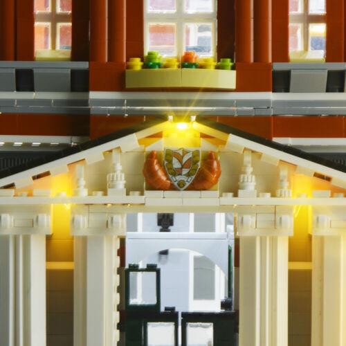 LED Light Up Kit For LEGO 10224 Toy Town Hall Building Blocks USB Lighting