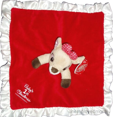 Christmas Baby/'s First Blanket Blanky Security Cuddle Rudolph Red Nosed Reindeer