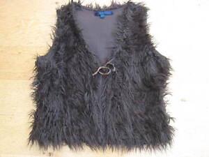 BODEN-Chocolate-Brown-Faux-Fur-Gilet-Waistcoat-Size-12-14