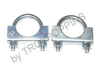 Cushman Omc Parts-2-exhaust Muffler Clamps 1-1/4 18hp 22hp Haulster Truckster