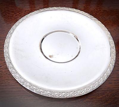 Antique Vintage Decorative Wm Rogers Silverplate 12 Round Serving Tray 721 Ebay