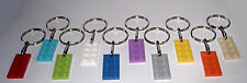 BIRTHDAY PARTY FAVOR BAG FILLER GAME PRIZE 20 LEGO BRICK PLATE KEY RING/CHAIN