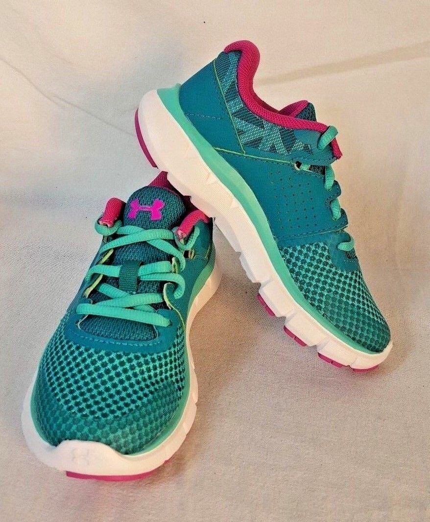 Youth Girl/'s Under Armour GPS Micro G Fuel Running Shoes Gala//White