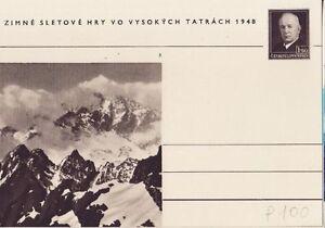 CSSR Tschechoslowakei Postkarte Nr. 100 **   Dr.Benes Hohe Tatra    -8