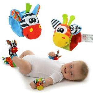 New-Baby-Infant-Soft-Toy-Developmental-Wrist-Strap-Foot-Socks-Rattle-Bug-Finders