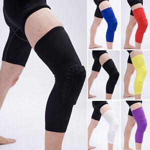 Honeycomb Knee Pad Crashproof Antislip Basketball Leg Long Sleeve Protector New