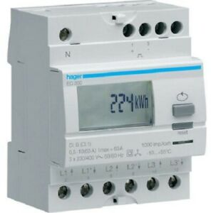 Details about Hager KILOWATT-HOUR METER HAGEC350 230V 50-60Hz 10-63A  3-Phase Direct Connection