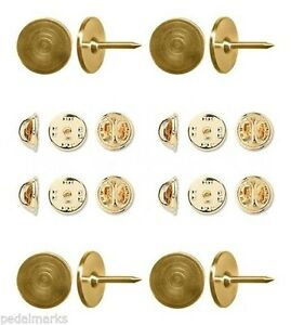 Details about 50 Gold STEEL TIE TACKS Lapel Scatter Pin 9 5mm pad x 10 5mm  post Tacs + Backs
