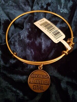 Alex and Ani Charity By Design Because I Am A Girl Expandble Bracelet Silver NWT