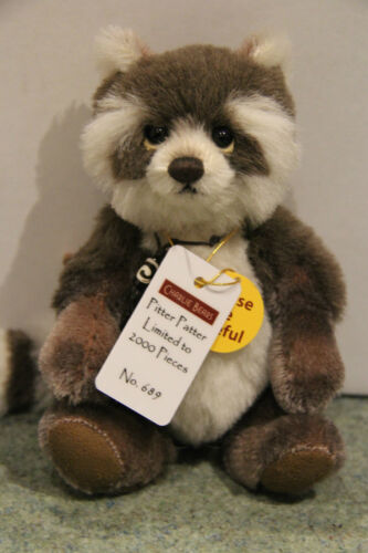 Raccoon MINIMO – Mohair Charlie Bears Pitter Patter MM645310