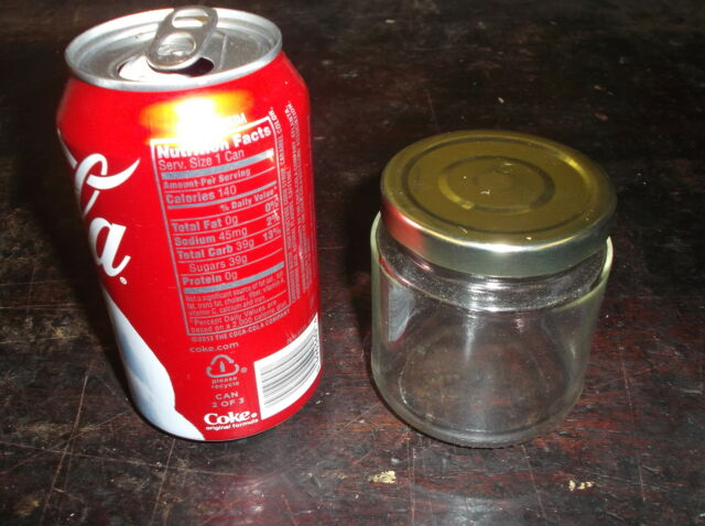 CASE OF 48 8 Ounce GLASS MASON JARS CANDLE MAKING CANNING WITH GOLD LIDS