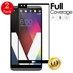 2-PACK-Black-Full-Screen-Coverage-Tempered-Glass-Screen-Protector-for-LG-V20