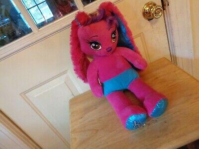 Pink Red Hair girl Stuffed Animal Rabbit
