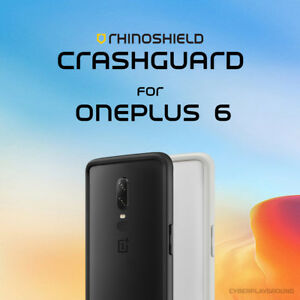 free shipping 264d0 ca9c9 Details about RhinoShield CrashGuard for OnePlus 6 Bumper Case + Screen  Protector | One Plus