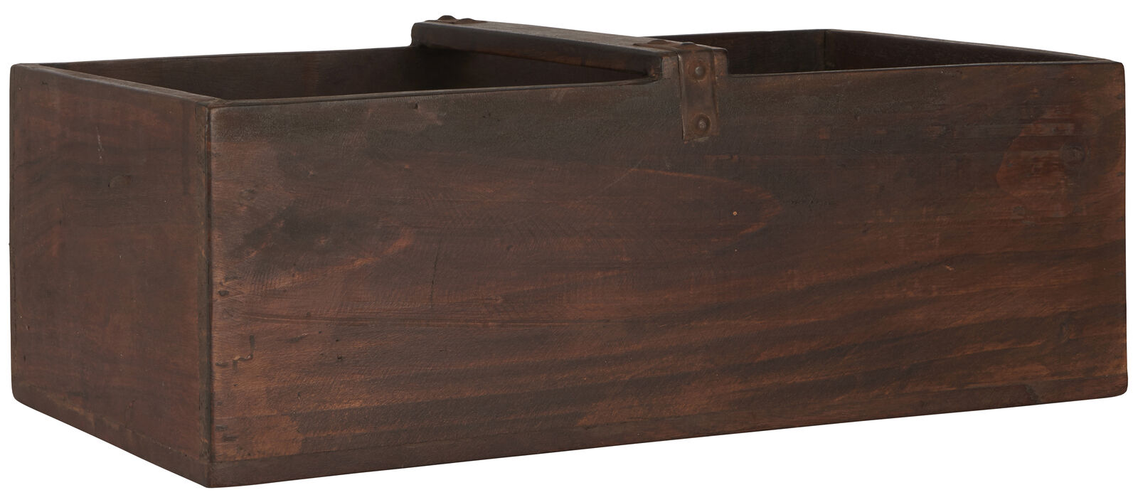 IB larsen SCATOLA CON MANICO UNIKA legno pezzo unico cassa di legno 30x50 cm legno riciclaggio