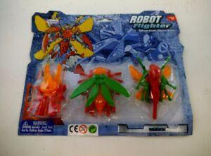 Takara-Japan-KO-Transformers-Plastic-Insecticon-Set-of-3-Convertors-Diaclone-MOC