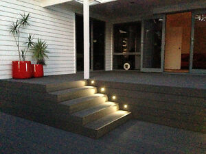 Garden stairs led deck step lights rgb half moon lamp 16102030 image is loading garden stairs led deck step lights rgb half audiocablefo