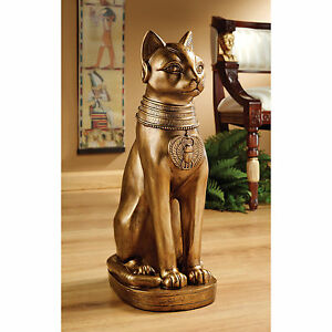 Golden-Bastet-Of-Ancient-Egypt-Design-Toscano-Exclusive-21-034-Hand-Painted-Statue