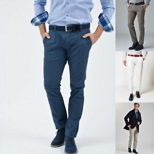 Guy-Pantalone-Uomo-Slim-Fit-Cotone-Chino-Estivo-tasca-america-casual-elegante