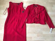 $280 NWT Kasper red dress suit sz 2P