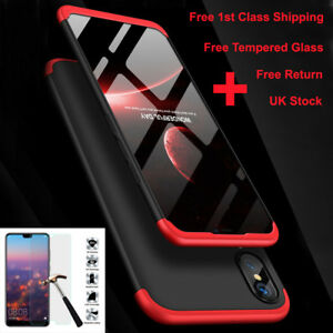 360° Full Body Shockproof Case Slim Cover+Tempered Glass For Huawei P20 Lite Pro